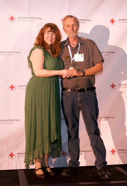 Andrea Davis, Chairman of the Board and Kenneth Dieball at the Awards