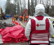 Red Cross responders serve the community of Darrington after the 2014 Wash. landslide