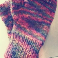 University (Basic Fingerless Mittens)