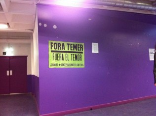 Fora Temer..., Universidad Paris8, Paris, 2017