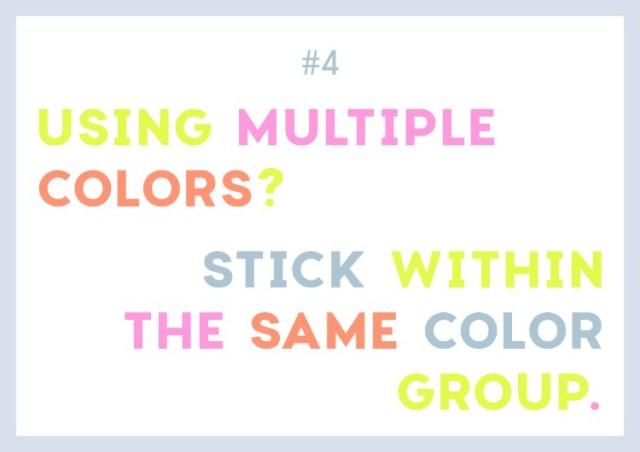 цветной шрифт