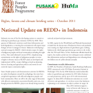 National Update on REDD+ in Indonesia