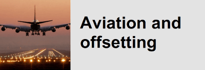 Aviation and offsets