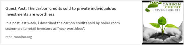 Worthless carbon credits