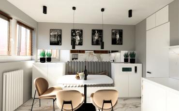 Белая кухня 10 м2
