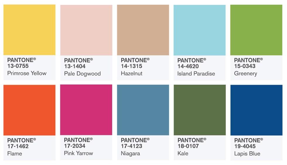 2017 Pantone Wedding Colors