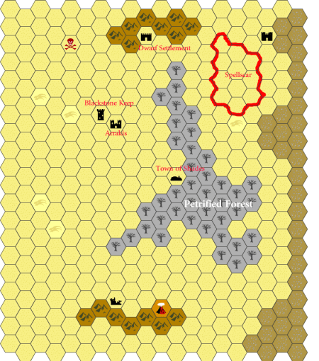 Dark sun Dungeon World – Campaign Map