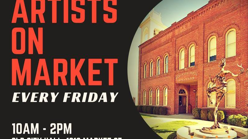 The artists are back for Artists on Market - weekly art fair and demos, 10am to 2pm outside of Old City Hall (1313 Market St, Redding, CA) All are welcome to come and check out the amazing talent of our members!!! Booth spaces and demo opportunities available to SCAC members Some of our featured artists participating areDavid Anderson,Brian Cavender, Don McDonald (www.Fool4Flotsam.com), Jerry Stuart, Jim Geil, Judith King... and many more!