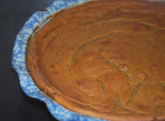 Vegan Pumpkin Pie I made one year. It's pretty easy with almond milk and without eggs.