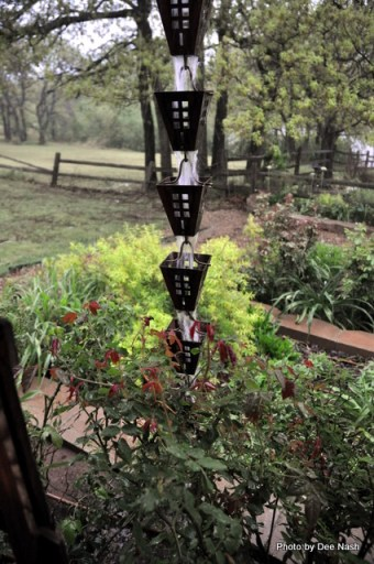 My rain chain in action