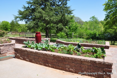 The newest garden, the potager which is behind the garden facing the street. It was finished in April 2010.