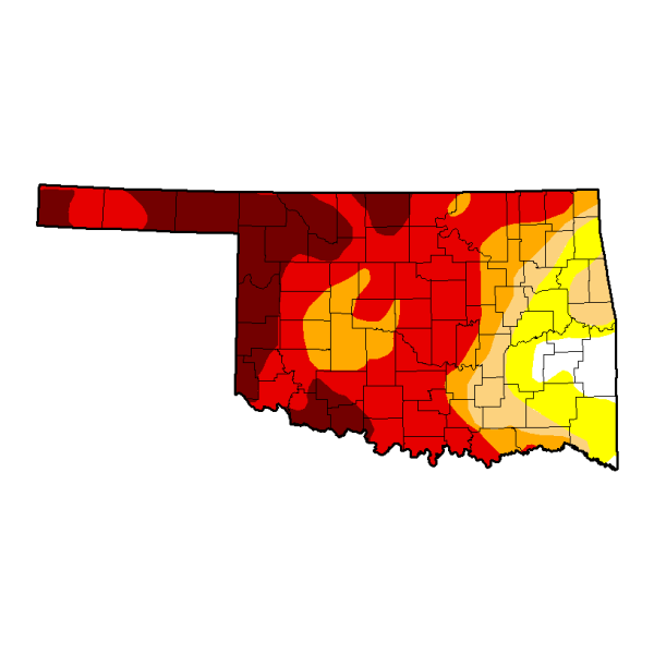 U.S. Drought Monitor Map for Oklahoma dated June 3, 2014.