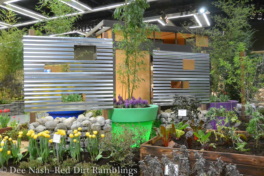 Edible Neighborhood garden at the Northwest Flower and Garden Show.