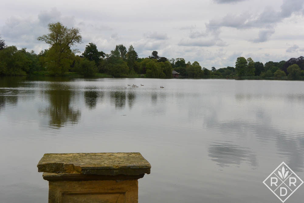 Astor's lake at Hever Castle. The lake was started in December 1904 and was finished in July 1906.