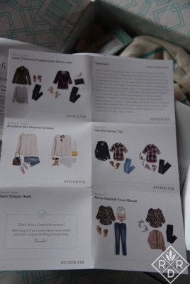 Stitch Fix style cards. Some women love these. Others could care less.