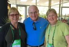 Coach Dooley, and Garden Communicators Carol Michel and Dee Nash and the State Botanical Garden of Georgia in Athens, GA.