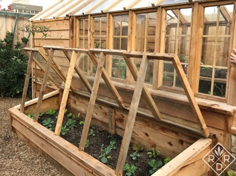 Magnolia sample greenhouse and cold frames. I wonder if they're thinking about selling kits of these? It wouldn't surprise me.