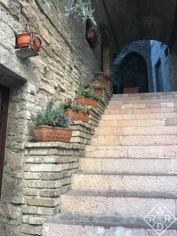 A stairway garden in Assisi.