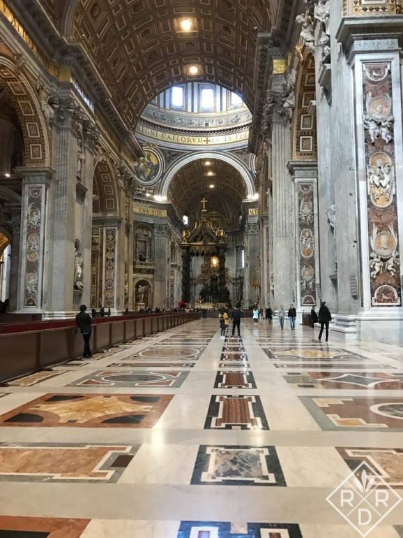 Hall inside the Vatican.