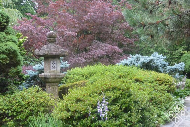 Lantern in Hillwood's Japanese garden.