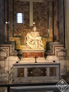 The Pieta located in the Vatican.