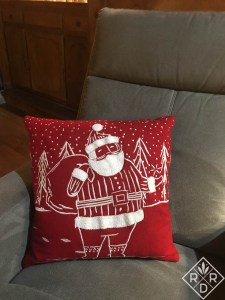 Fun Santa pillow I found at Target.