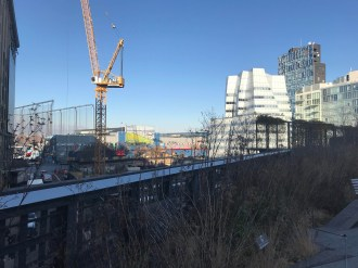 The High Line is surrounded by construction sites, and this part of the city is rapidly growing.