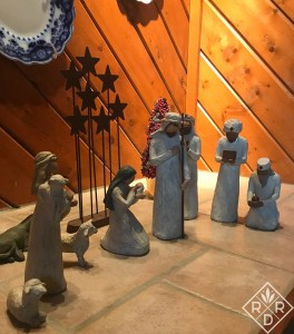 This is our original nativity scene that I collected over several years when our children were young. Do you remember these?