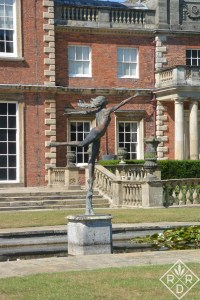 Newby Hall fountain at the rear of the house.