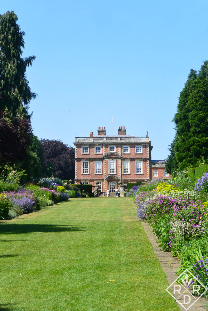 Newby Hall's long herbaceous borders, replanted by Lucinda Compton. The borders were the original gardens at the house.