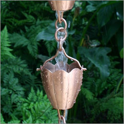Half Length Copper Rain Chain