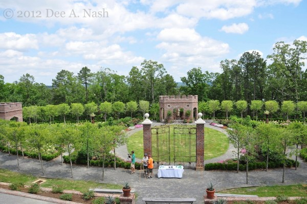 P. Allen Smith's new rose garden at Moss Mountain Farm.