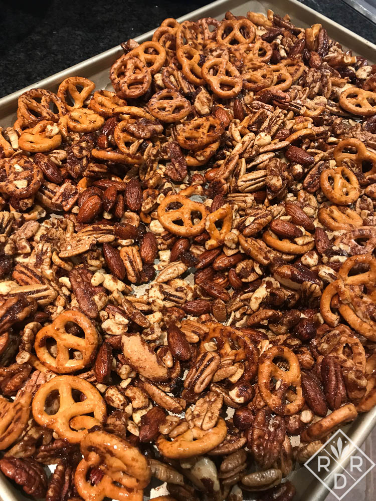 David Lebovitz's nut-snack mix. The pretzels are gluten free, but you'd never know it.