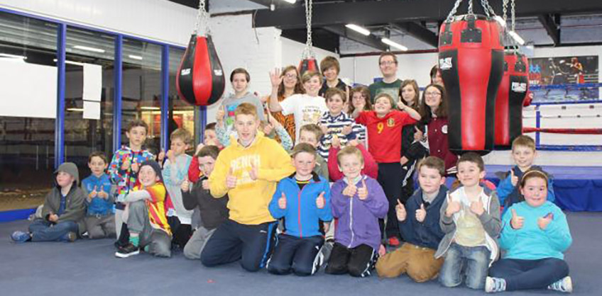 1st Matchborough Cub Scouts tried their hand at boxing for Sport Relief