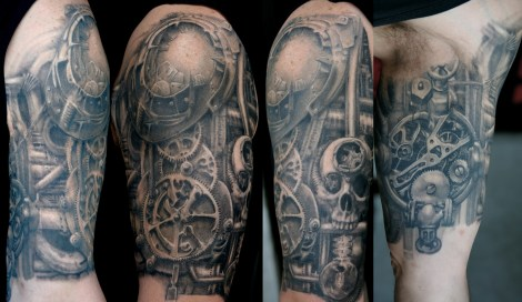Steampunk half sleeve