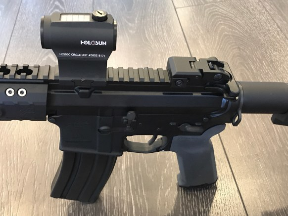 ar 15 iron sights only