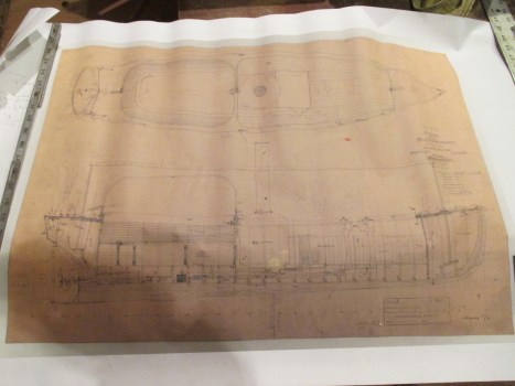 a printed scan of the original plans at MIT's Hart museum