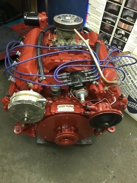 327 Grey Marine Fireball V8 after re-build