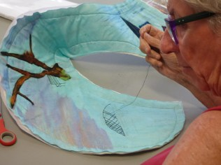 Donna was working on her Brisbane Challenge piece
