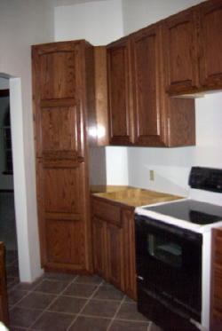 Red Oak Kitchen In Red Mahogany Stain