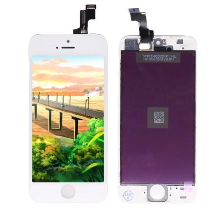 iPhone 5G Hvid Orginal LCD Display Touch Skærm (Oem)
