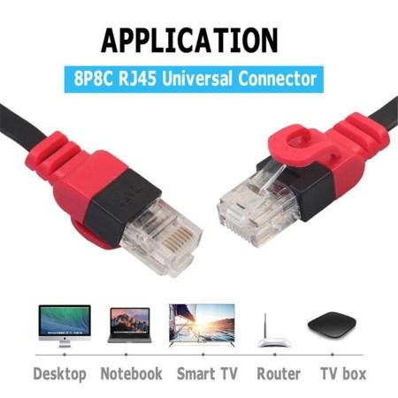 Flad Netværkskabel UTP Cat6 Rj45