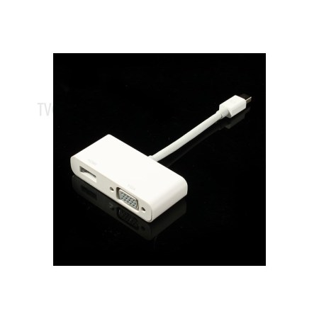 2 in 1 Mini DisplayPort to HDMI & VGA Adapter Cable for Apple MacBook Pro Air