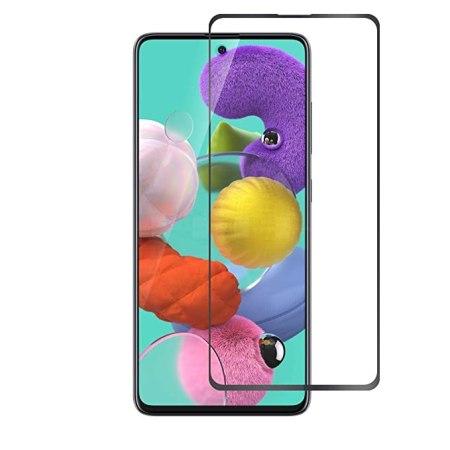 Samsung A51 Full Skærmbeskyttelse – Sort Ramme