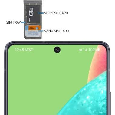 Samsung A50 Double Simkort holder