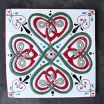 6 in. Square Four Leaf Clover Tile Trivet