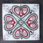 6 in. Square Four Leaf Clover Tile Trivet