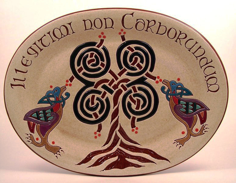 10 in. x 13 in. Tree Platter - $95