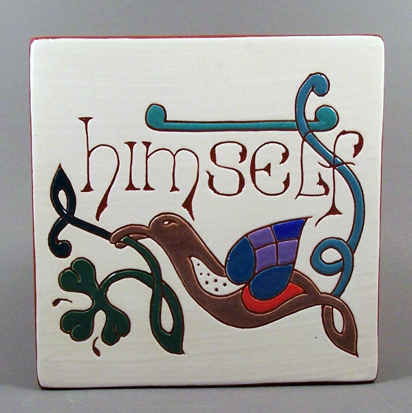 6 in. square Himself tile trivet - $25.