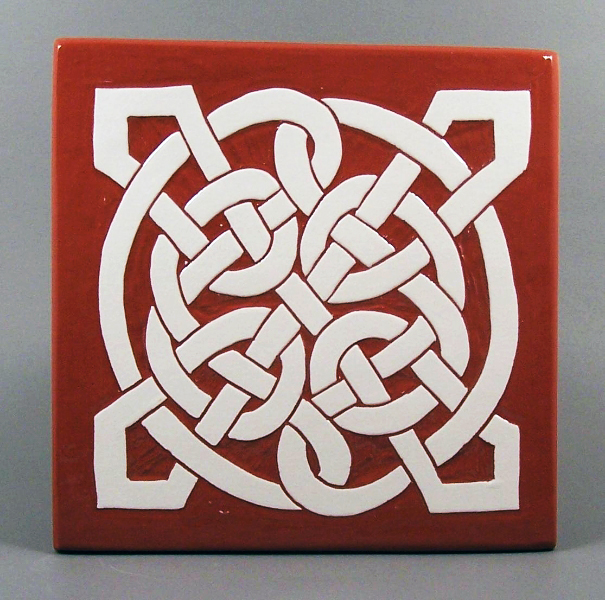 6 in. square St. James tile trivet - $20.